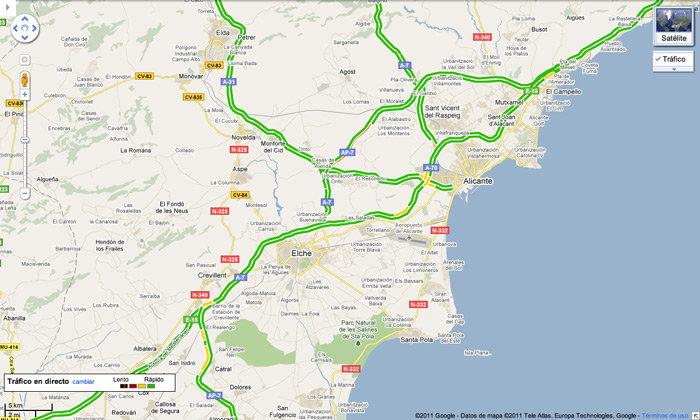 Google Maps Espana Ya Muestra El Trafico En Vivo En Sus Mapas