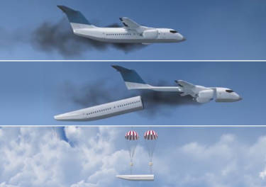 El avión desensamblable podría acabar con las muertes en los accidentes aéreos